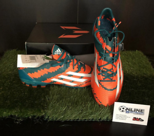 Adidas Messi 10.1 AG - Power Teal White Solar orange US 8.5,