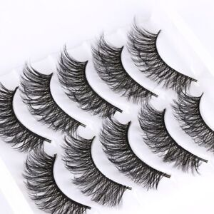 SKONHED-Real-Mink-3D-False-Eyelashes-5Pairs-Lot-Reusable-Wispy-Thick-Messy-Lash
