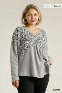 Umgee-Animal-Print-Waffle-Knit-Top-With-Crisscross-Back-Plus-Size-XL-1X-2XL