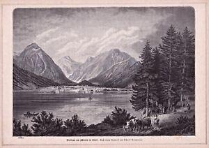 Pertisau-Achensee-Austria-Gesamtansicht-Stich-nach-A-Neumann-1883