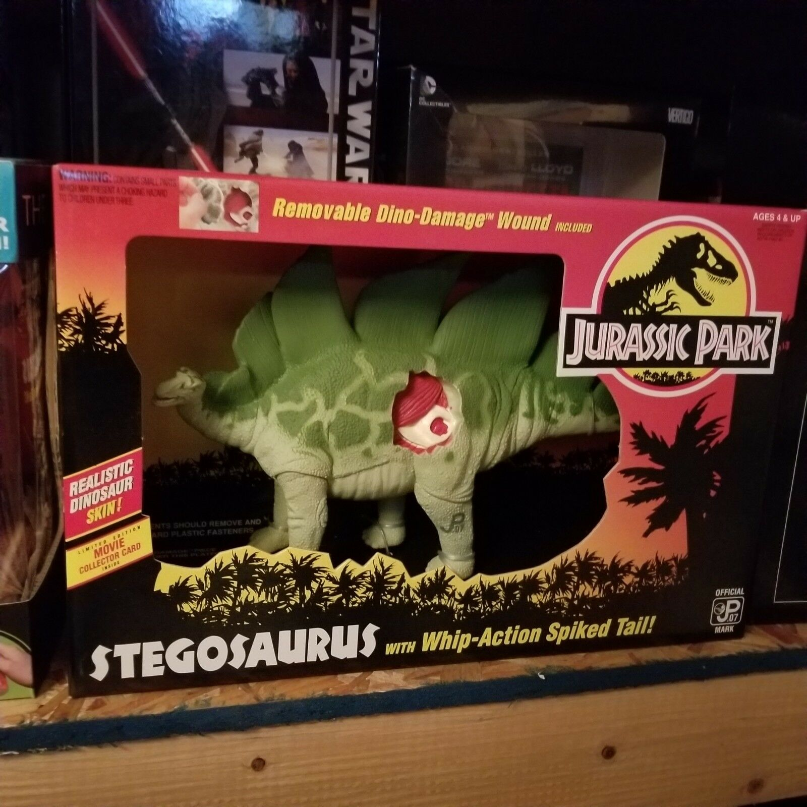 1993 JURASSIC PARK Stegosaurus In Original scatola scatola scatola mint in scatola never opened   ebe2e7