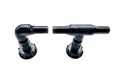 """IBC Adapter DN 50 Wasserhahn Zylinderhahn mit Bogen 3//4/"""""""