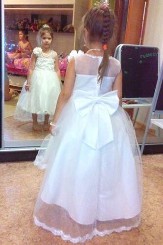 Juliette Flower Girl Formal Dress Christening Birthday Gift Gown Bridesmaid 2-12