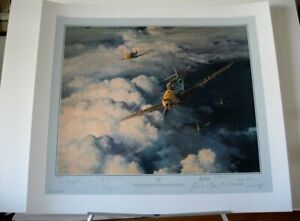 Horrido-Messerschmitt-Bf109-Me109-JG52-Robert-Taylor-Aces-Signed-Aviation-Art
