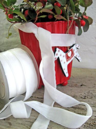 Samtband Velvet Velour 20mm weiß 700 Tischdeko Hochzeit Taufe Landhaus 1,70€//m