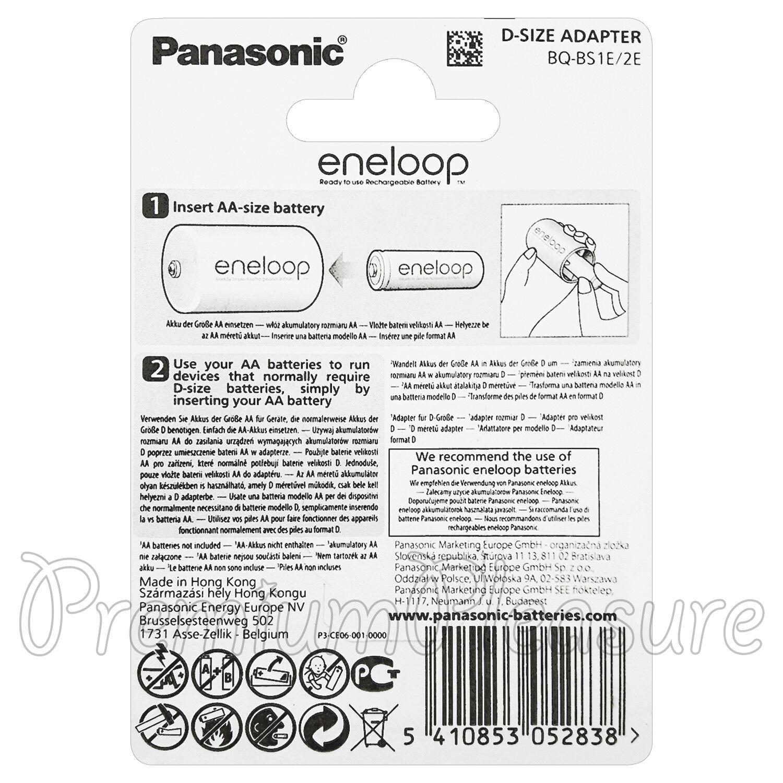 4 x Eneloop D Size Adapter Converts AA Battery Converter Spacer BQBS 1E