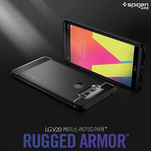 on sale 4b701 fd8a0 Details about LG V20 Case For Spigen Rugged Armor Carbon Fiber Design TPU  Slim Soft Cover
