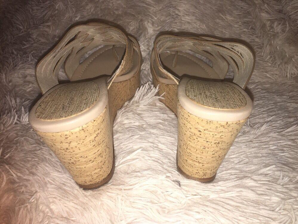 Donald J Pliner Flore Natürlich Größe Patent Kork Keilabsatz Sandalen Größe Natürlich UK 11 M 8b8e26