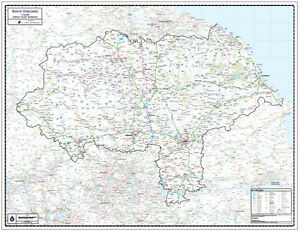 North yorkshire county wall map laminated edition map scale 1 image is loading north yorkshire county wall map laminated edition map gumiabroncs Choice Image
