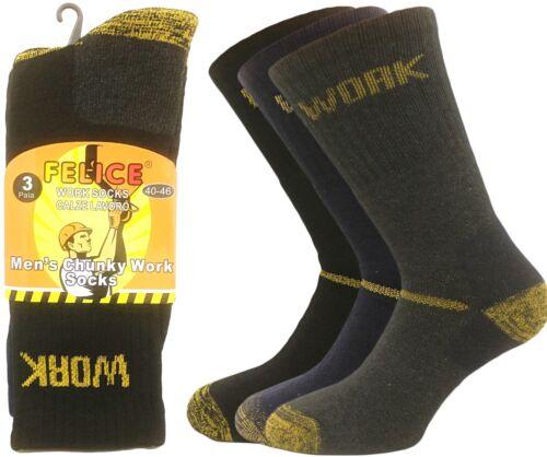 40-44 Arbeiter-Socken 95/% Baumwolle 6er Pack Arbeitssocken Vollfrotteefuß Gr