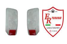 COPPIA PLASTICHE FANALI/FARI POSTERIORI BIANCHE FIAT 500 F/L/R