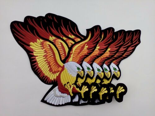 5 Large US Eagle For Jacket Embroidered Patches 10""
