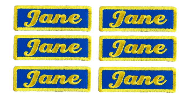 6 Custom Embroidered Name Patch Badge Work Shirt Tag Business Biker Motorcycle