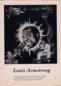 Louis Armstrong 1959 ORIGINAL German tour program Trummy Young Velma Middleton