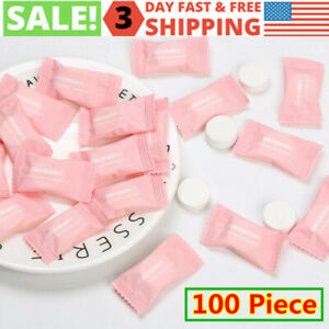 100 Piece Disposable Cotton Compressed Travel Towel Tablets Face Cleaning Tissue