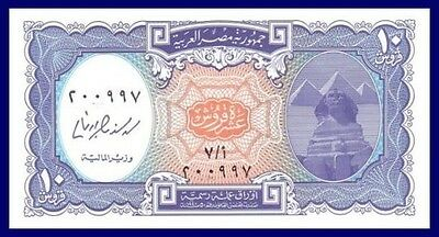 2006 Unc High Quality Goods Improved Sphinx Scene / Mohammed Ali Mosque Egypt P190 10 Piastres