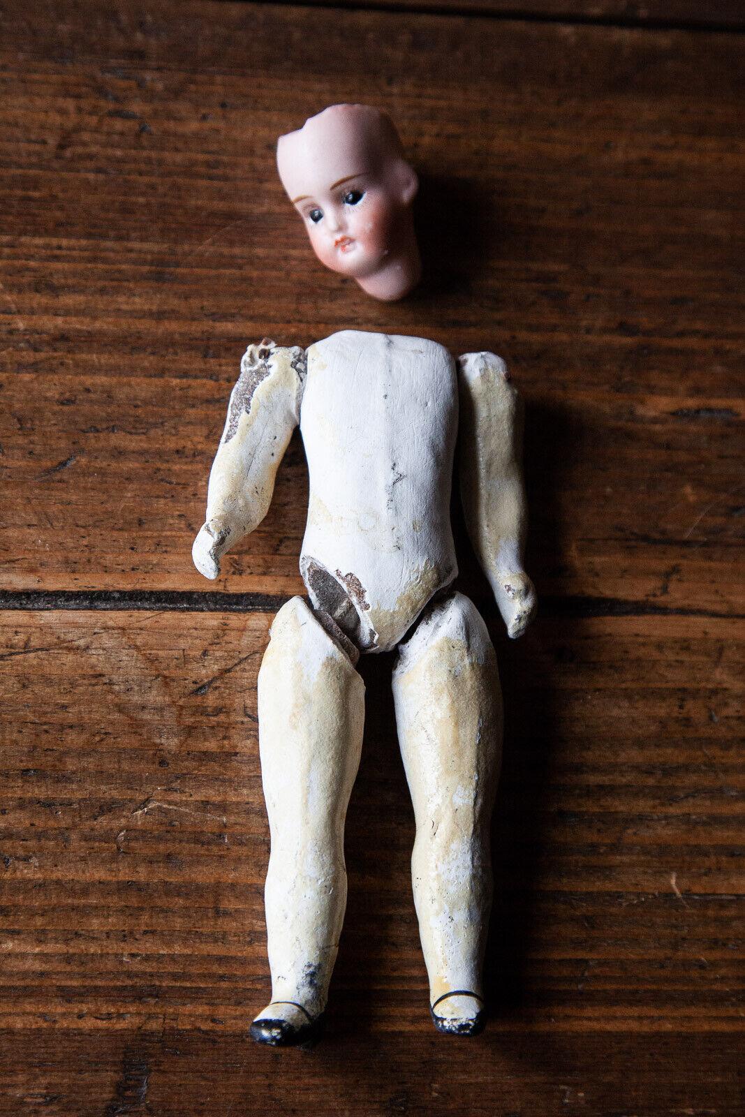 Petite poupée ancienne tête en biscuit avec corps séparé Jules Verlingue