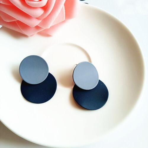 Charm Round Dangle Drop Earrings Statement Ear Studs Women Girls Jewelry Gift 0U