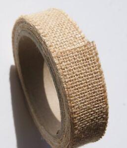 "Crafting Burlap Tape - 100% Jute (1 Inch X 3 Yards) Creative Essentials 1"" Tan"
