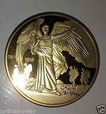 Dorado Guerra Mundial I Monedas Ángel Heaven Real Icónica Inusual Coleccionistas