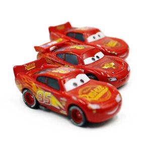 Disney Pixar Cars Lightning McQueen Set 1:55 Diecast Model Car Toy Loose Gift