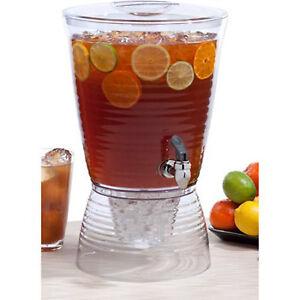 Beverage-Dispenser-1-5-Gallon-Pitcher-Party-Outdoor-Drink-Ice-Tea-Juice-Indoor