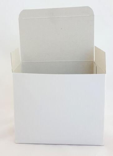 25 x Pappschachtel Faltschachtel weiß Papier 14cm 140x115x85mm Karton Faltkarton