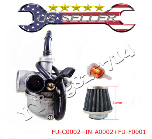 PZ19 Carburetor 90 110 125CC ATV TAOTAO honda CRF Chinese air filter Lever Choke