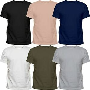 6-Pack-Mens-Plain-Cotton-Blank-Basic-T-Shirt-Casual-Top-Assorted-Multi-Lot-Singl