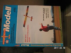 ** Revue Modell N°8/1993 Revue modele reduit avion en allemand