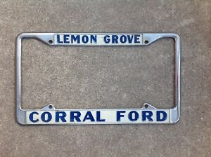 San Diego Ford Dealers >> Details About Corral Ford Lemon Grove San Diego California Dealer License Plate Frame