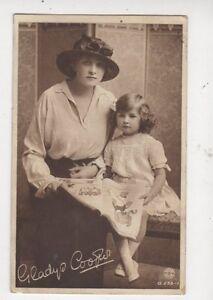 Gladys-Cooper-Actress-amp-Daughter-1917-Postcard-531a