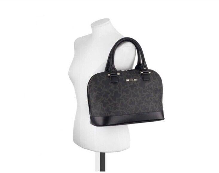 Tous Kaos Marroneee Leather Printed Bowler Shoulder Shoulder Shoulder borsa nuovo  417 ec337b