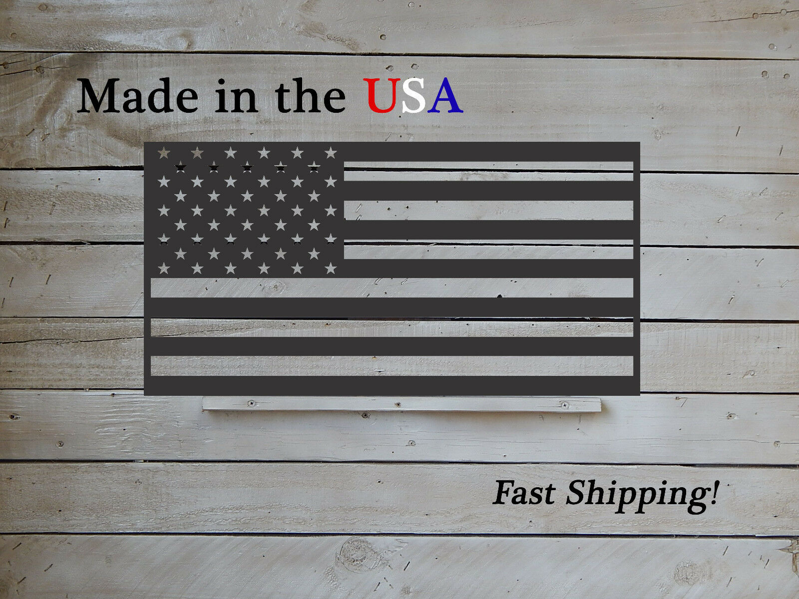 American Flag, 4 Größes, Metal Flag, Indoor Outdoor Old Glory, Patriotic- S1263