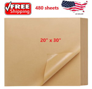 """Details about  /480 20/""""x30/"""" Kraft tissue paper gift wrapping Packing Wrapping Cushioning Void F"""