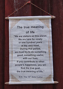 Image Is Loading DALAI LAMA QUOTE TRUE MEANING OF LIFE HANDMADE