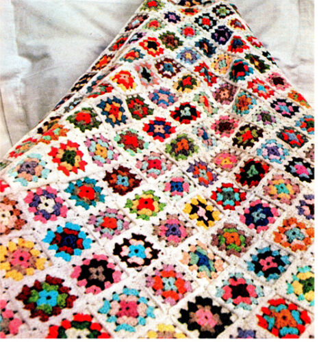 Pattern Only-use up the odd balls of wool Lovely Granny squares Crochet Blanket
