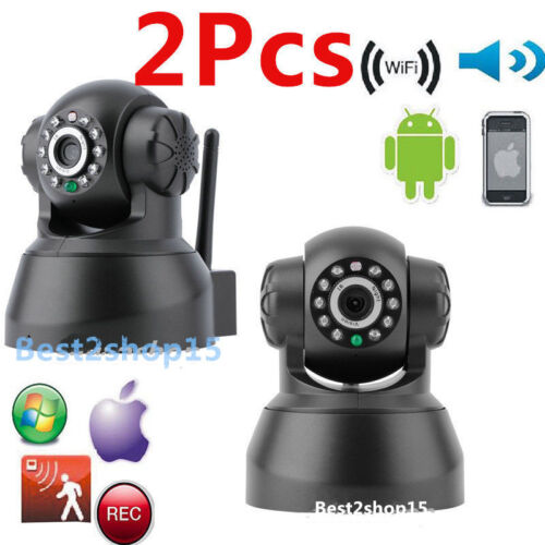 2pcs Wireless IP Camera WiFi Security Surveillance System Night vision IR Webcam