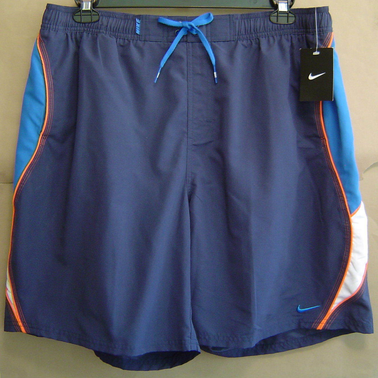 90eb23d455086 NWT NIKE Mens XXL Navy bluee SWIMSUIT TRUNKS VOLLEY SHORTS TESS0240 440