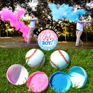 Pink And Blue Balls Included Free Shipping! Realistic Gender Reveal Party Baseballs
