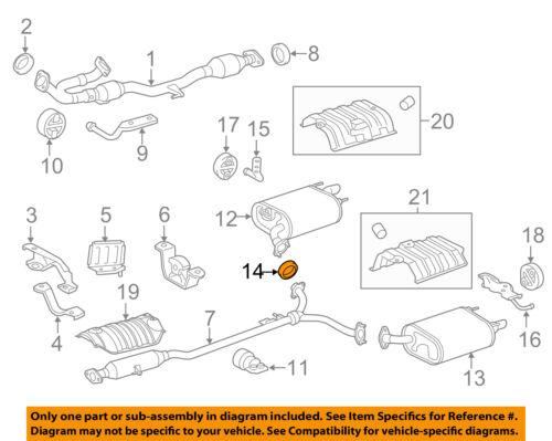 TOYOTA OEM Exhaust-Rear Muffler Gasket 9008043028