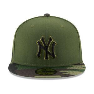 New York Yankees New Era 2017 MLB Memorial Day 59FIFTY Cap Olive ... 32c425e4fdd2