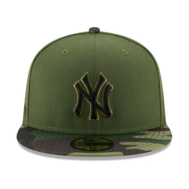 innovative design 97358 5382a New York Yankees New Era 2017 MLB Memorial Day 59FIFTY Cap Olive SIZE-6 1