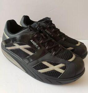 8ae6d7e8de55 MBT M Walk Mens 9.5 Black Toning Walking Sneakers Shoes Swiss ...