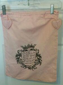 Pink-Juicy-Couture-Dust-Bag-for-Handbag-Drawstring-Tote