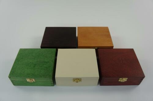 Wooden Plain Jewellery Box Trinket Storage Box Memory Keepsake Chest P15,3b