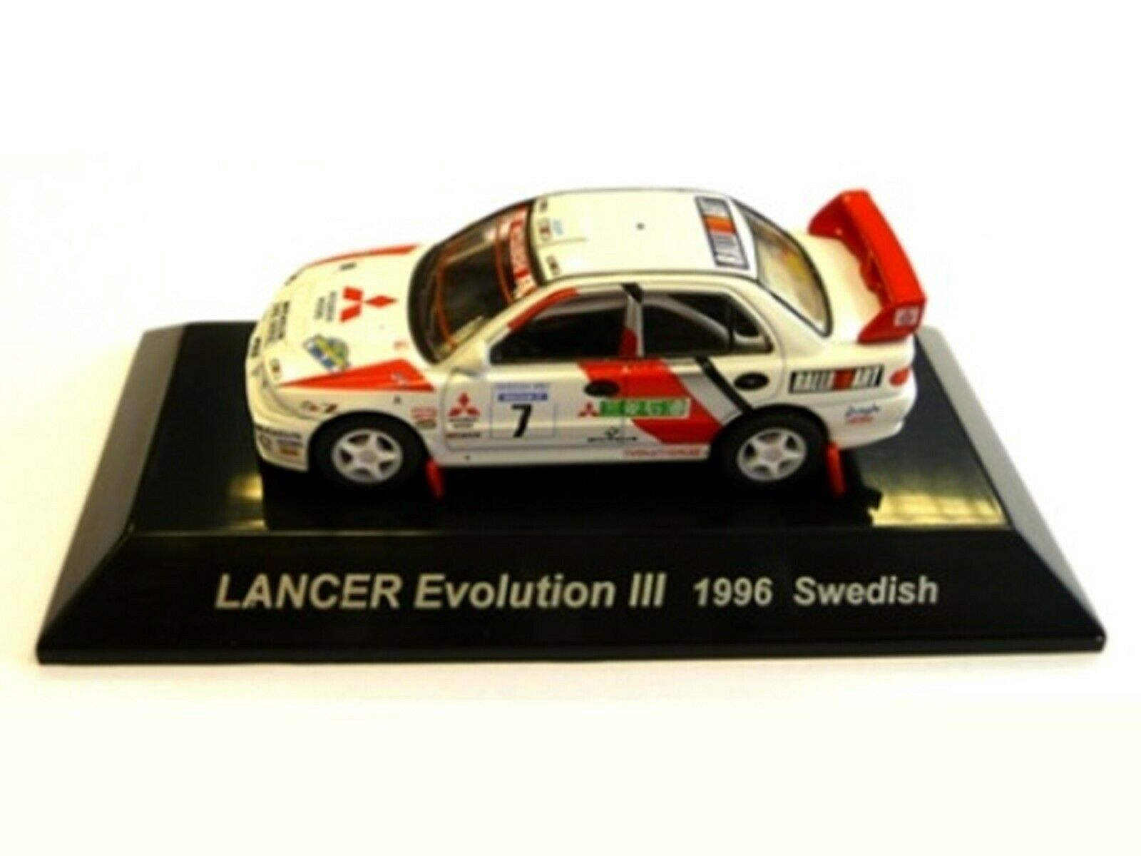 WOW EXTREMELY RARE Mitsubishi Lancer Evo3 Sweden 1996 WRC 1 64 CM's Kyosho