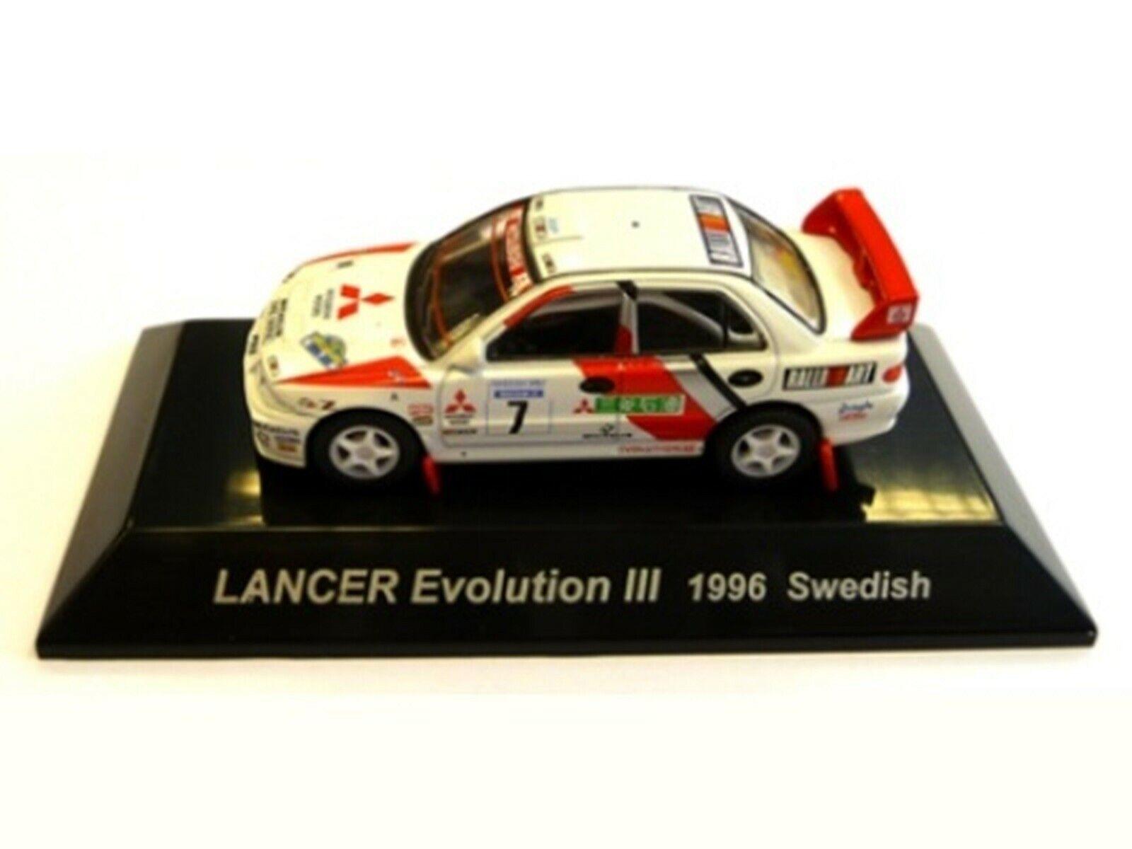 Wow extrêmement rare MITSUBISHI LANCER Evo3 Suède 1996 WRC 1 64 cm 'S KYOSHO