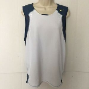 f33dc3f8aff84e NIKE SPHERE DRY Stretchy Spandex Blue Off White Workout Tank Top ...