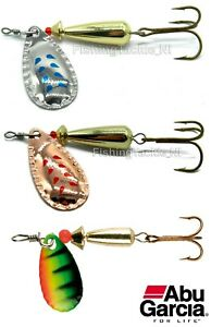 Abu-Garcia-3-Pack-Droppen-Spinner-Lures-6g-8g-or-12g-Trout-Perch-Freshwater